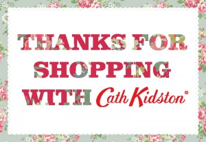 Something Special - Cath Kidston Brand - Thanks for shopping