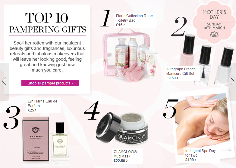 Top 10 Pamper Products from M&S