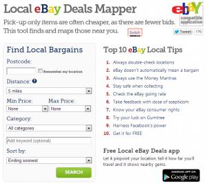 eBay Hot Deals Tools