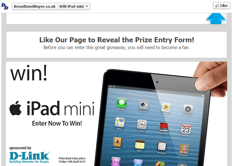 Enter to Win iPad Mini at BB