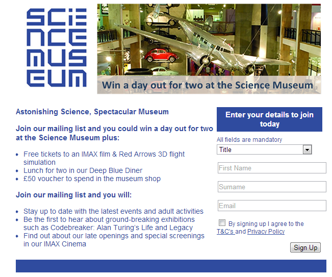 Free Stuff From Science Museum