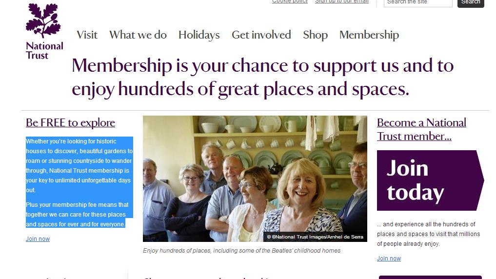 National Trust 3 Months free memberhip