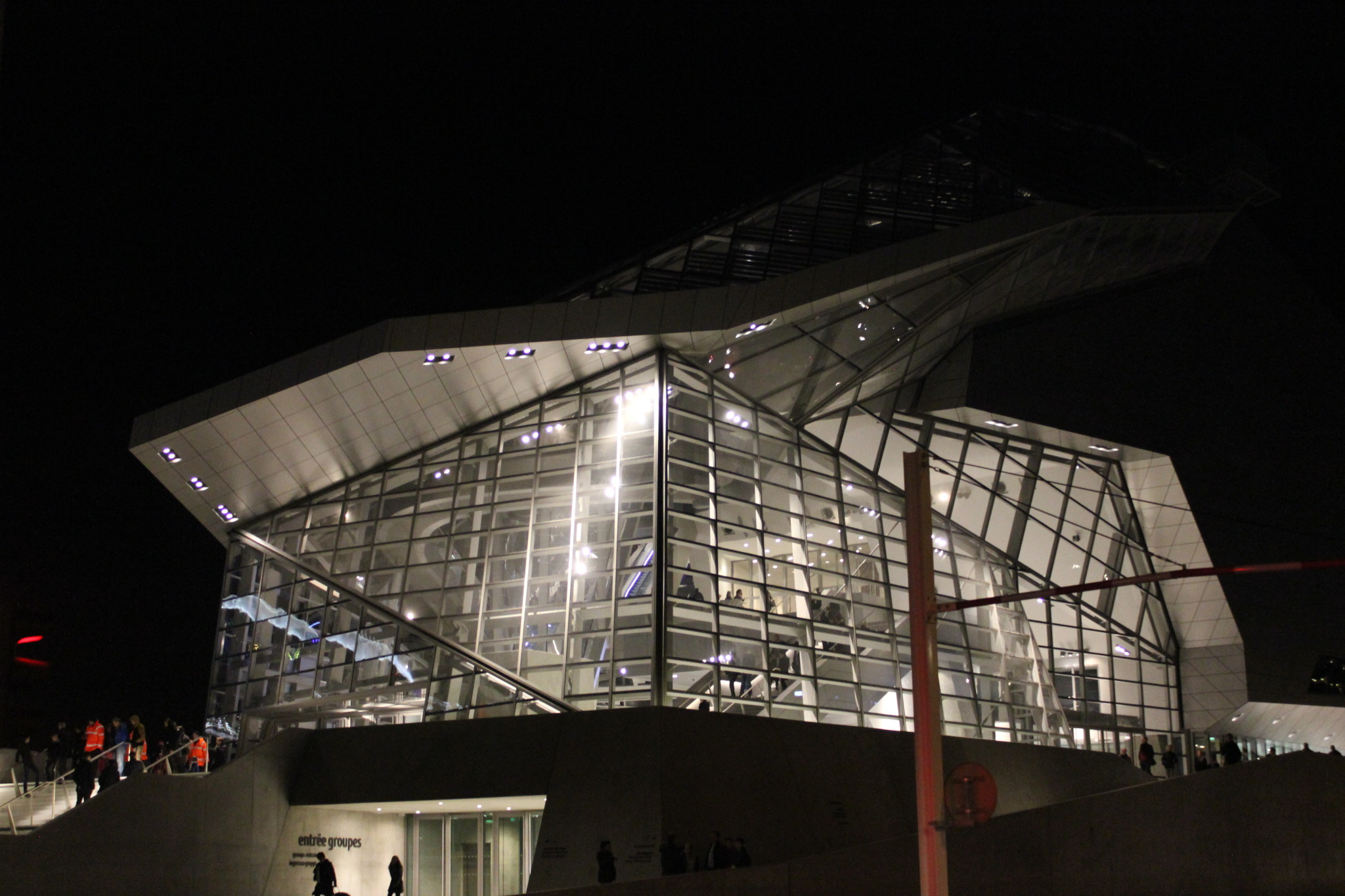 Musee des Confluances by night