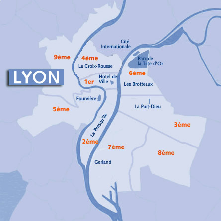 Lyon Arrondissements