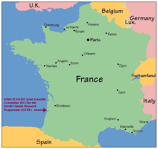 Lyon on a map