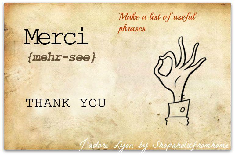 Prepare a list of useful phrases