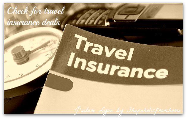 Check for travel insurance