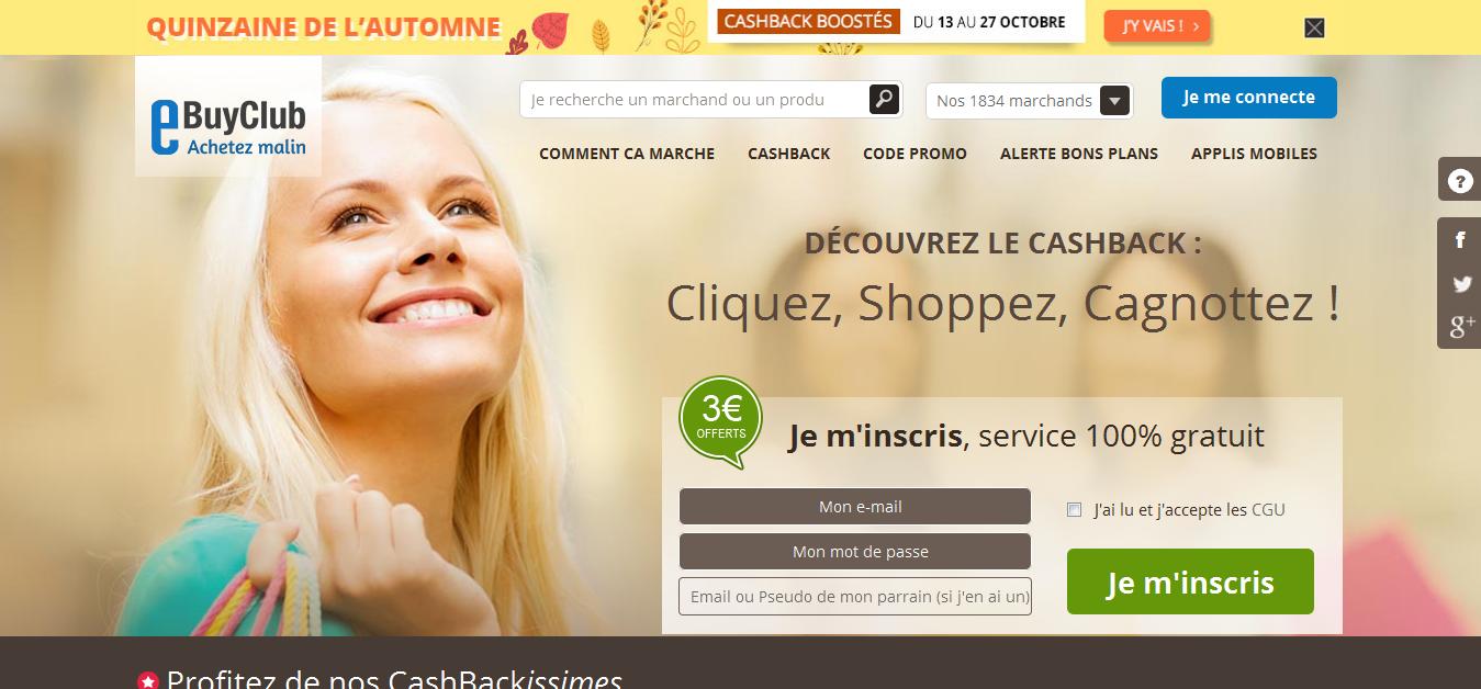 EBuyClub Cashback Website