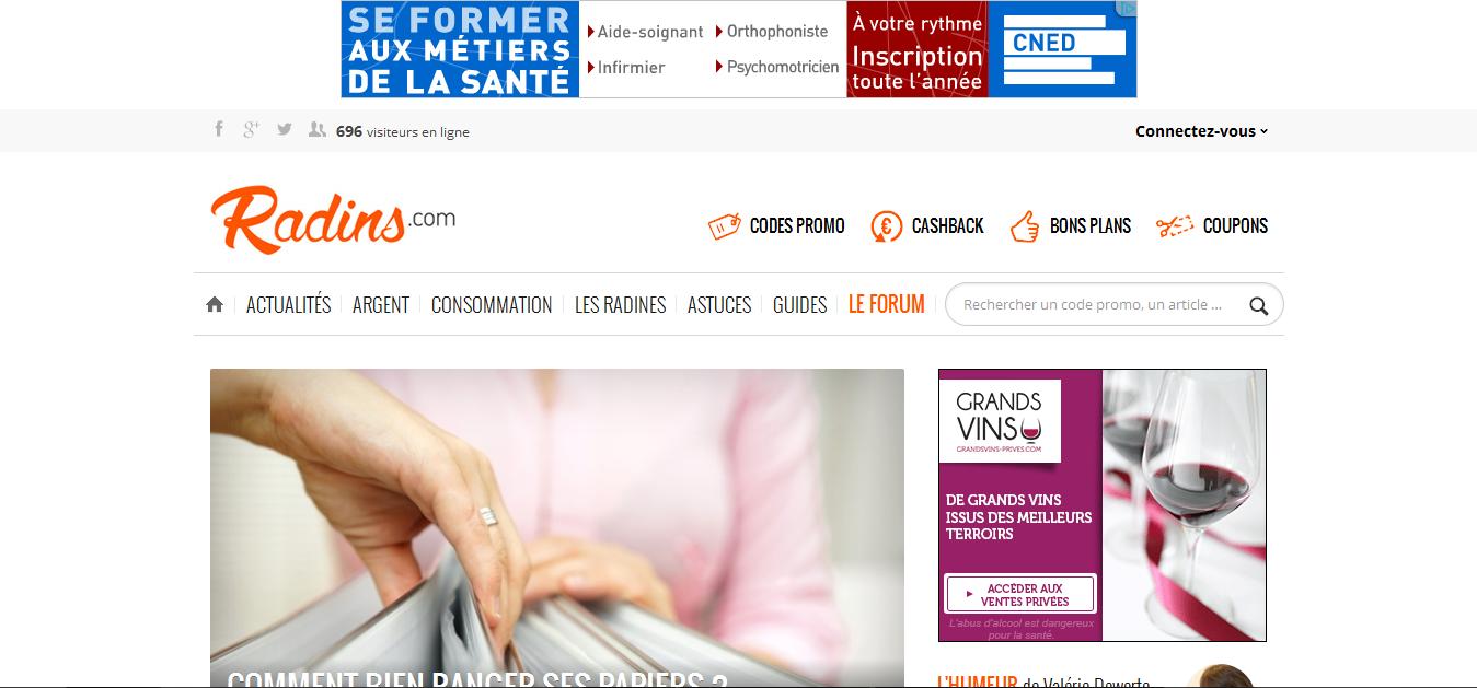 Radins.com Vouchers and Cashback