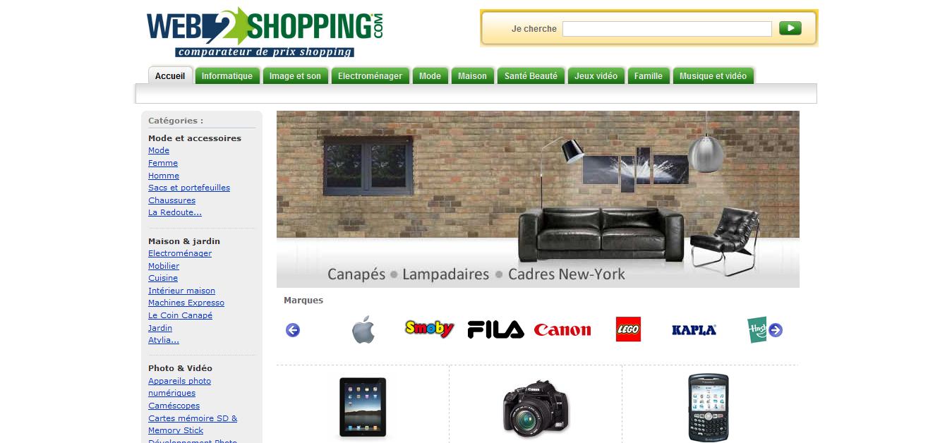Web2shopping Price Comparison