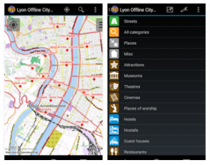Lyon Offline City Guide Mobile App