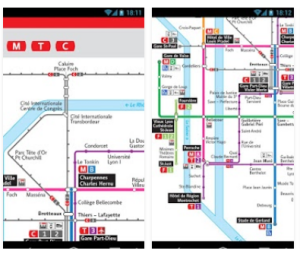Lyon Metro and Tramway and Trolley Mobile App