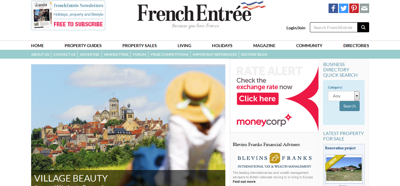 Frenchentree - 'Guides to French Property, Living in France and Holidays to France'