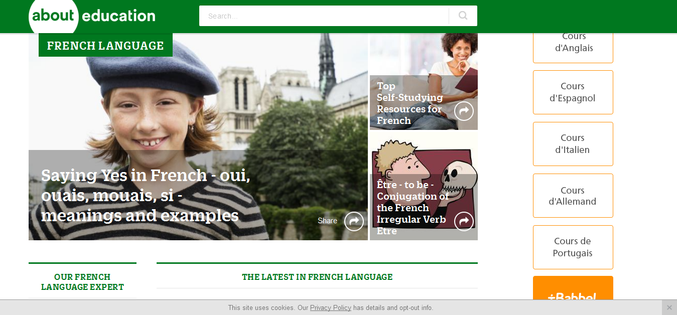 Learn French at About - Free French Lessons