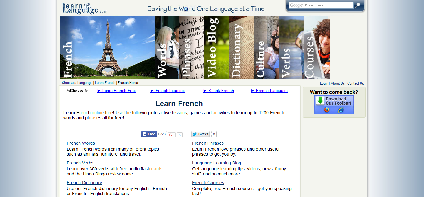 Learn French at Learn A Language