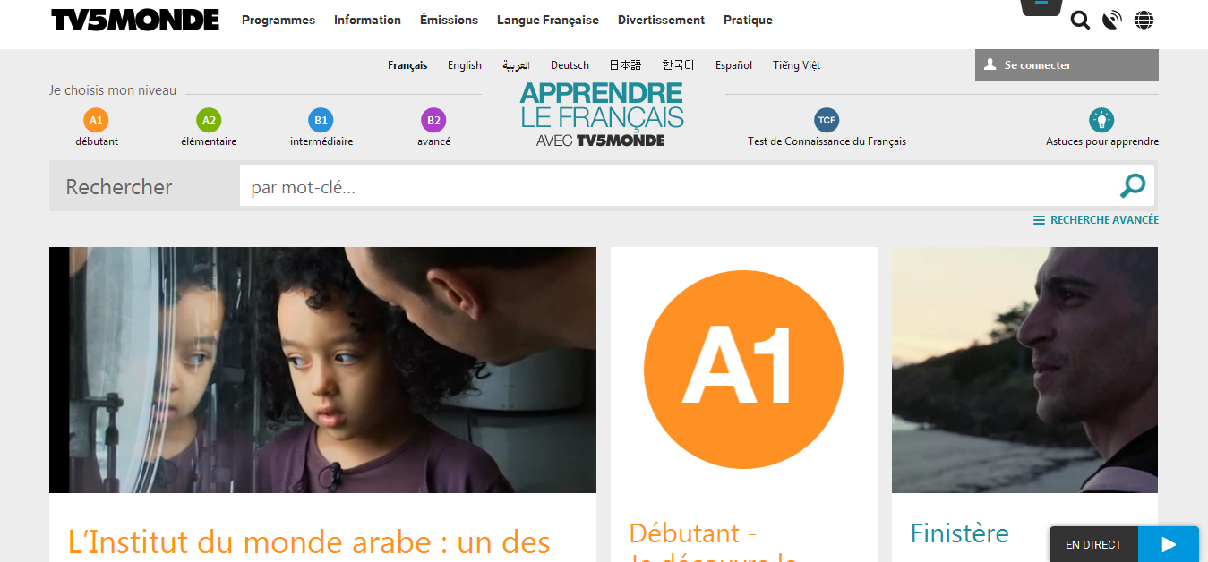 Tv5Monde - news to read and watch