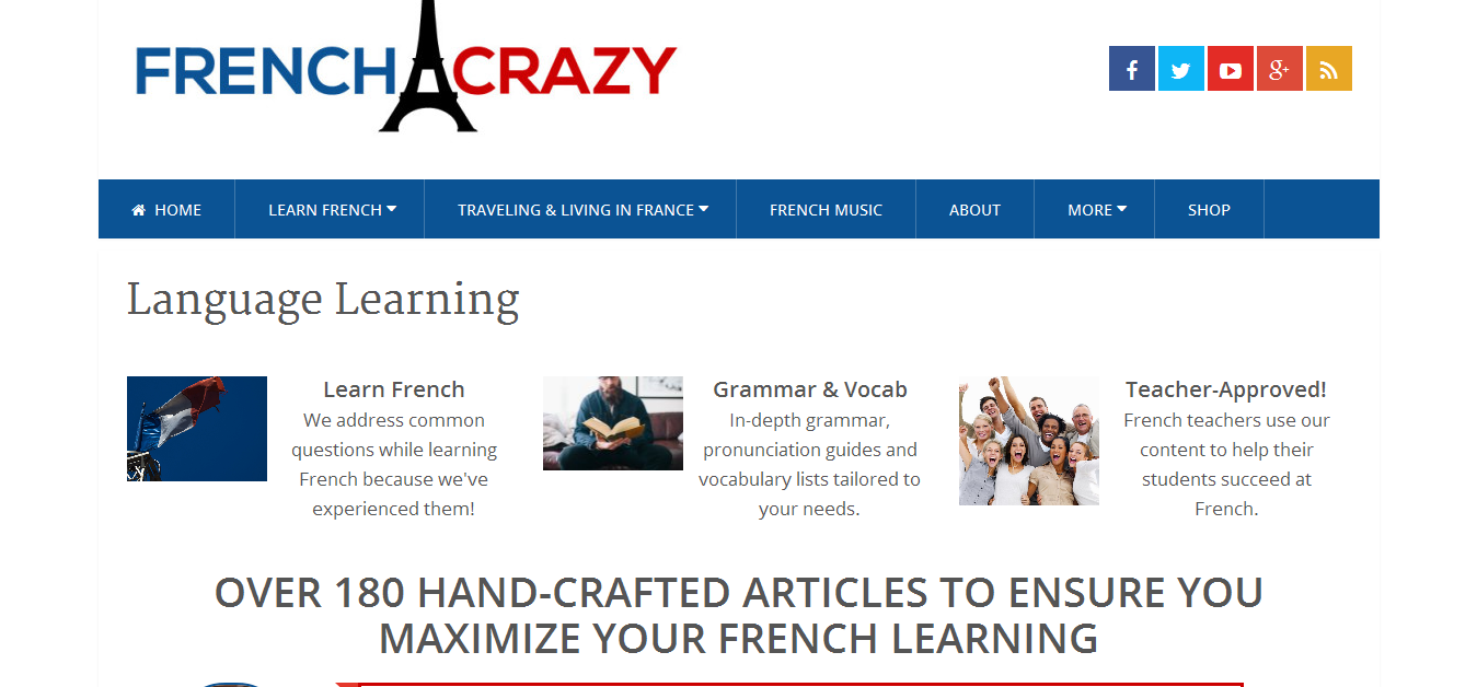 French Crazy for learning language