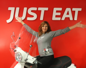 Nathalie works at Allo Resto by Just Eat and She seems very Happy about it!