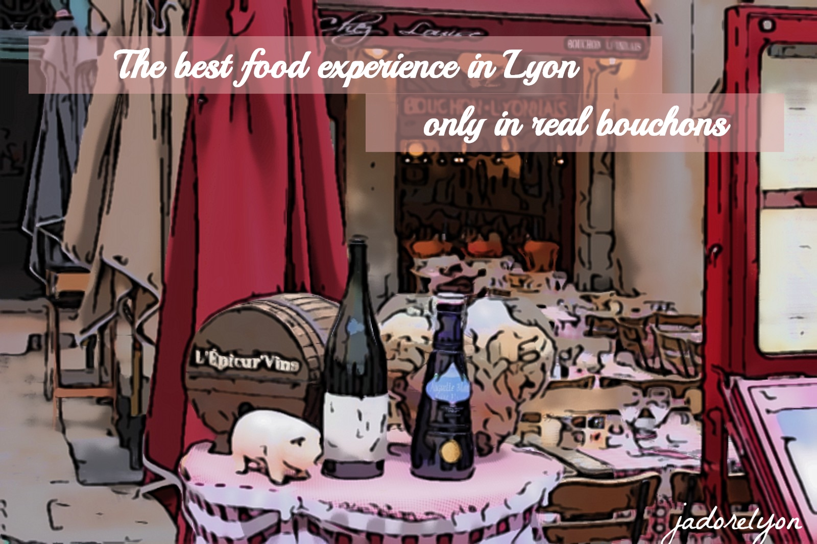Food experience in Lyon only in bouchons