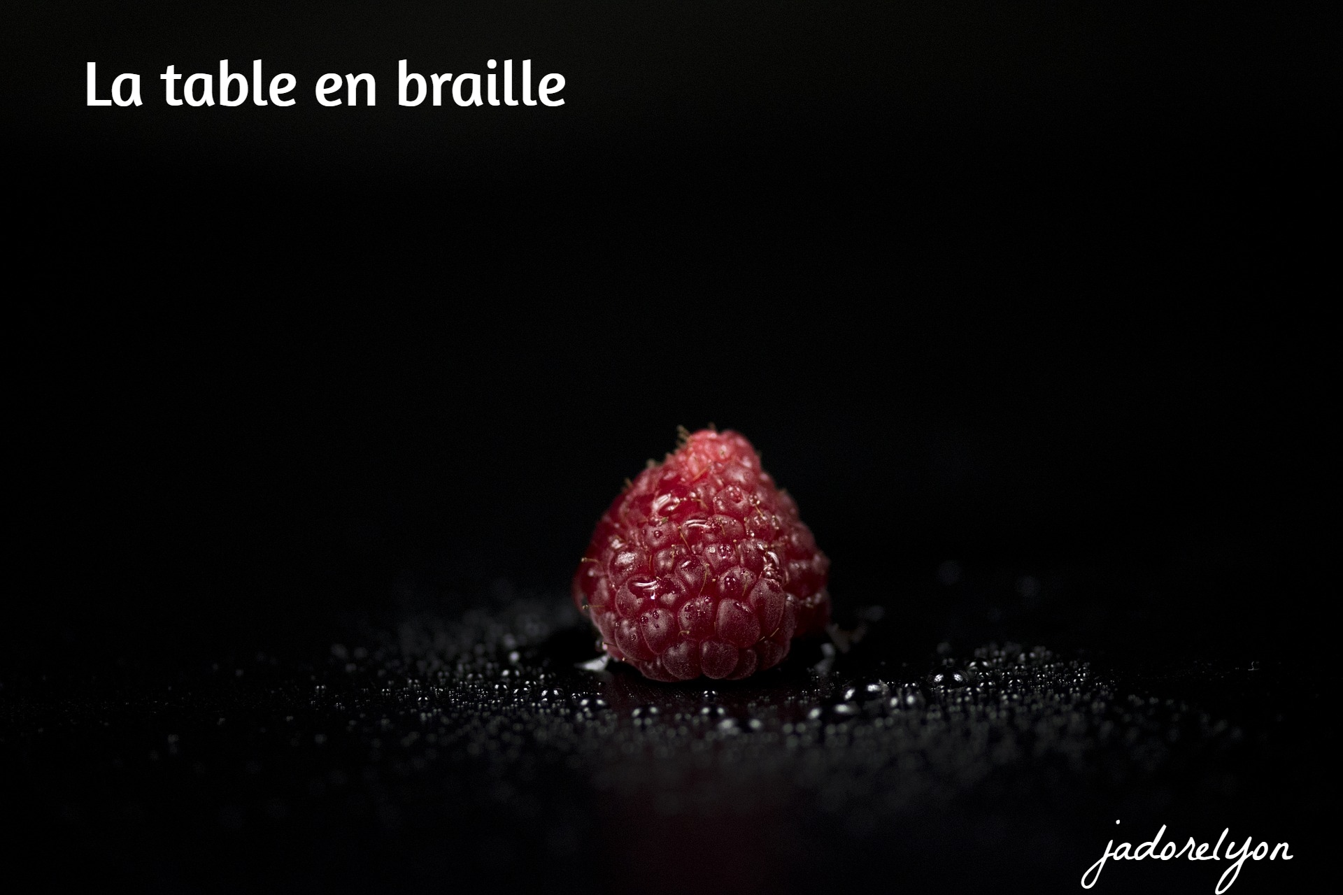 La table en braille