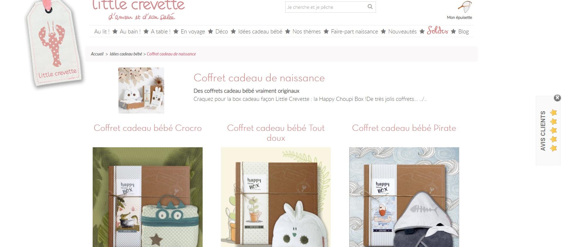 Coffret cadeau bébé original - Little Crevette