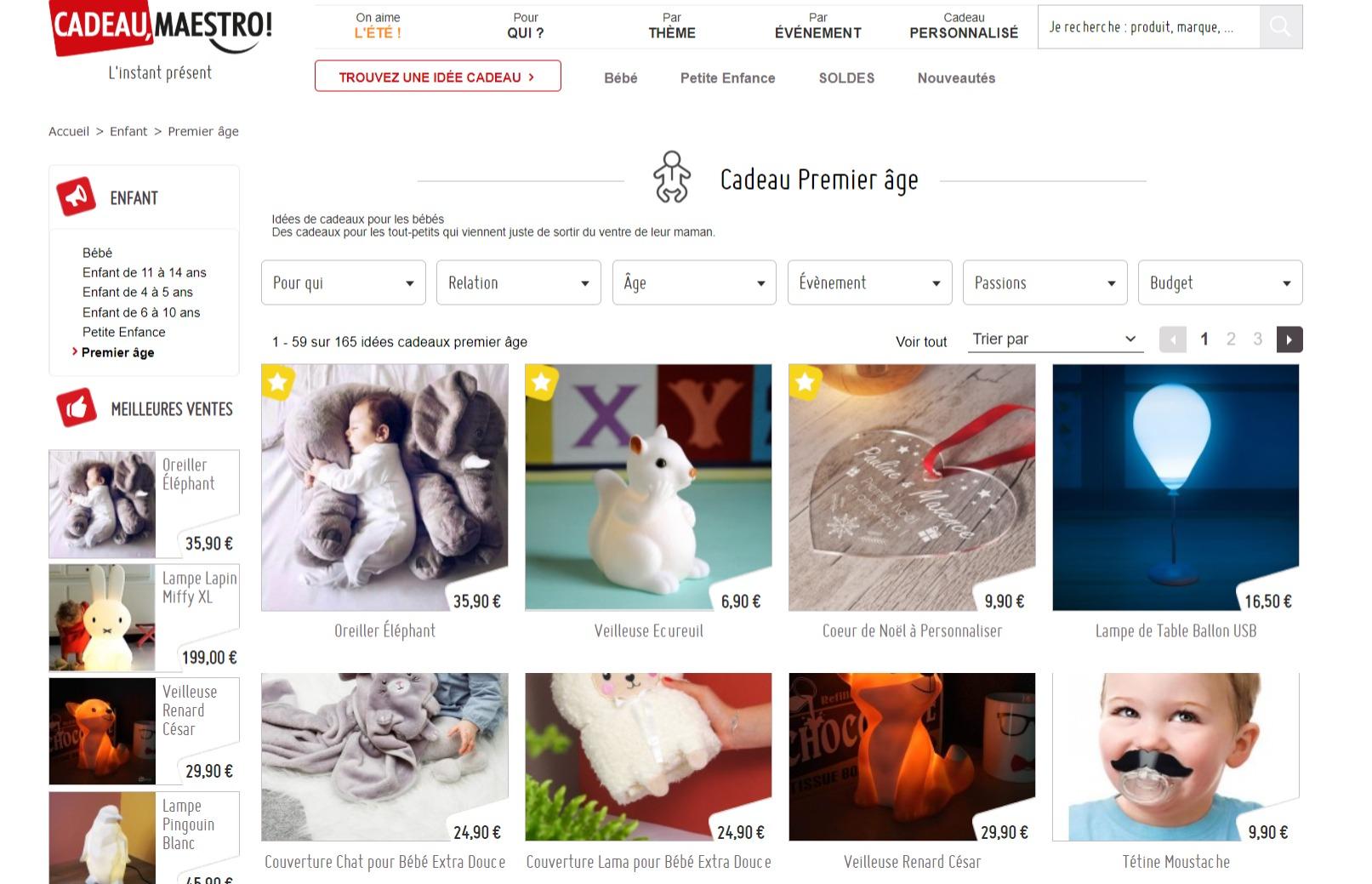Offrez un cadeau premier âge original - www.cadeau-maestro.com
